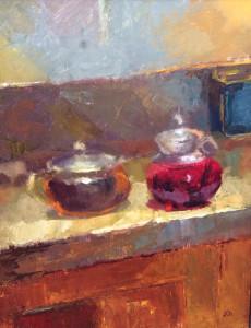 Still Life with Teapot 10x12 $490 oil
