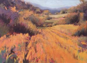 Hay Fields 30x40 acrylic