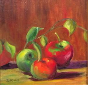 Apples 12x12 oil $799