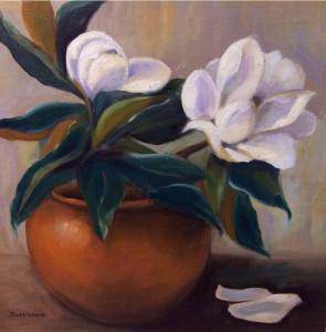Bowl of Magnolias 29x29 oil $995