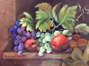 Grapes and Apples 12x16 oil $795