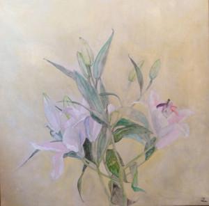 Fleur de Lys 24x24 mixed media