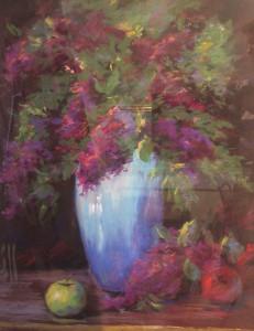Aquamarine Vase 21x27 $3600 pastel