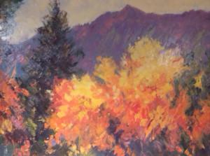 Boulder Flatirons in Autumn 16x20 $2100