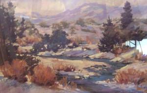 Snowy River 18x13 $1600 pastel