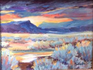 Kristen Olsen Southern Colorado Sunset 9x12 $950