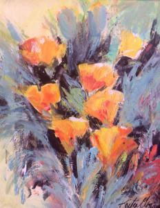 Yellow Flowers 11x14 $1100