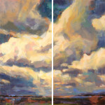 Above & Beyond diptych 36x36