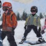 Ski School First Day 8x16